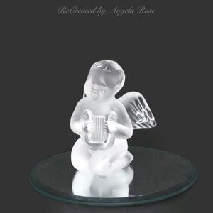 Lalique Angel Cherub Frosted Crystal Figurine